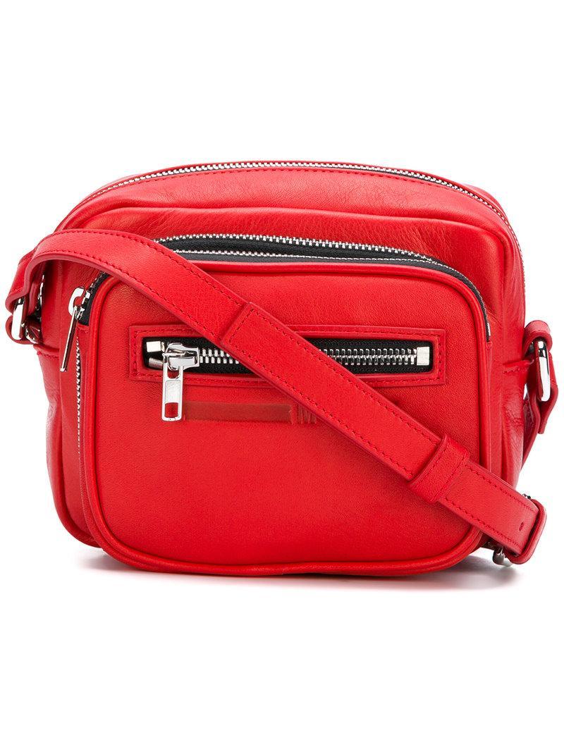 5d639ea1fd6 Mcq By Alexander Mcqueen Mcq Alexander Mcqueen Loveless Riot Red Leather  Crossbody Camera Bag