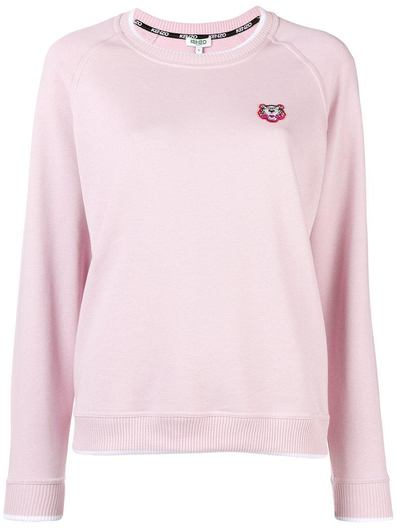 cc6dd06661e Kenzo Tiger Crest Sweater - Pink