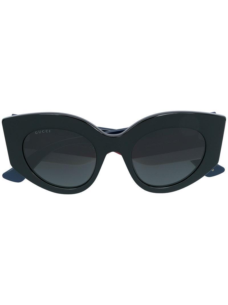 14164d54c02 Gucci Eyewear Oversized Cat Eye Sunglasses - Black