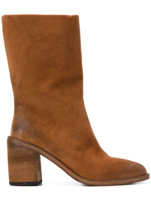 MarsÈLl Block Heel Boot In Brown