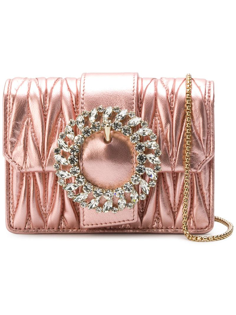 aef51c0629 Miu Miu Matelassé Mini Bag - Pink