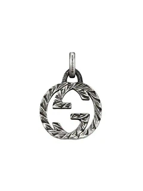 Gucci Interlocking G Charm In Silver In Metallic