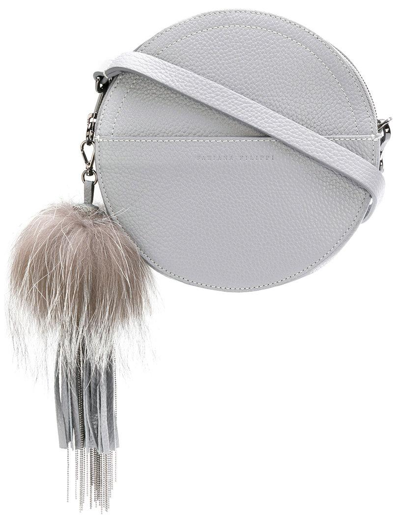 a0032cd35f Fabiana Filippi Round Crossbody Bag - Grey | ModeSens