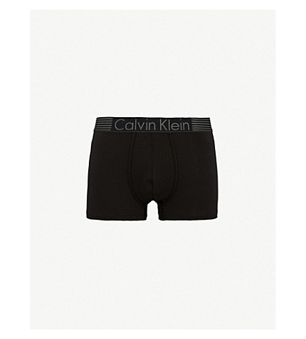 Calvin Klein Iron Strength Stretch-Cotton Trunks In Black