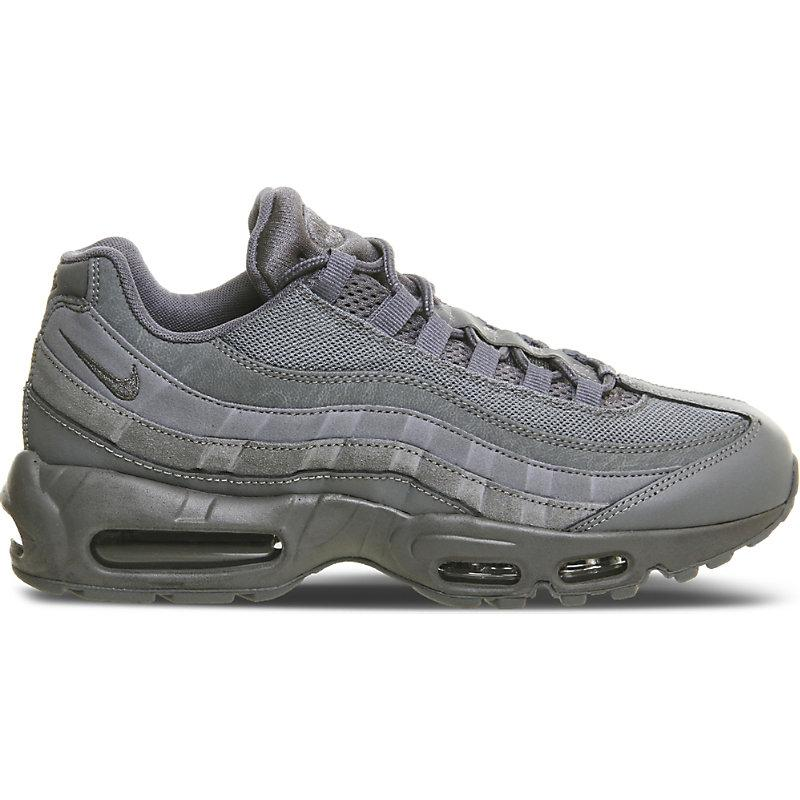 Nike Air Max 95 Suede And Mesh Trainers In Cool Grey Mono