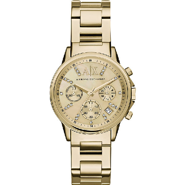 Armani Exchange - Stainless Steel Women's Watch In Yellow