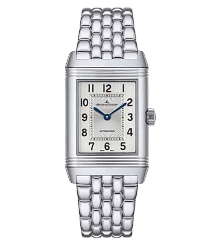 Jaeger Le Coultre 2578120 Reverso Classic Medium Duetto Watch In Silver
