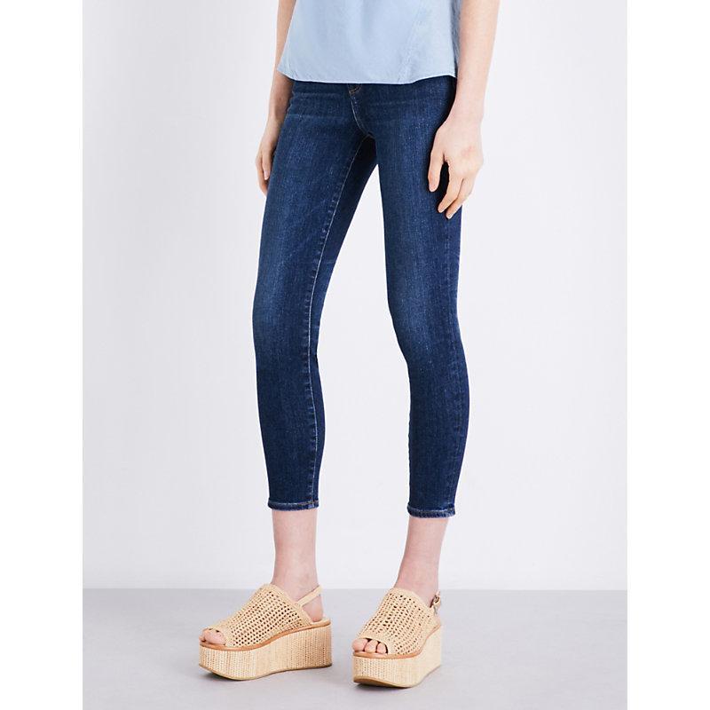 J Brand Ladies Blue Skinny High-rise Jeans