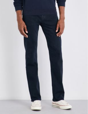 7 For All Mankind Standard Luxe Standard-Fit Straight Jeans In Soho Deep Blue