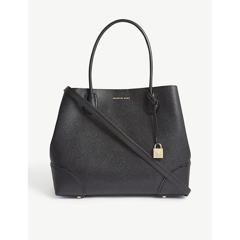 88133adc2caf Michael Michael Kors Mercer Gallery Large Grained Leather Tote In Black