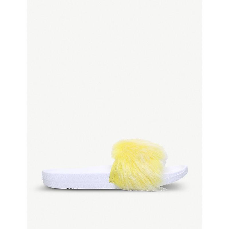 23f3459c0c6 Royale Sheepskin Sandals in Lemon Yellow