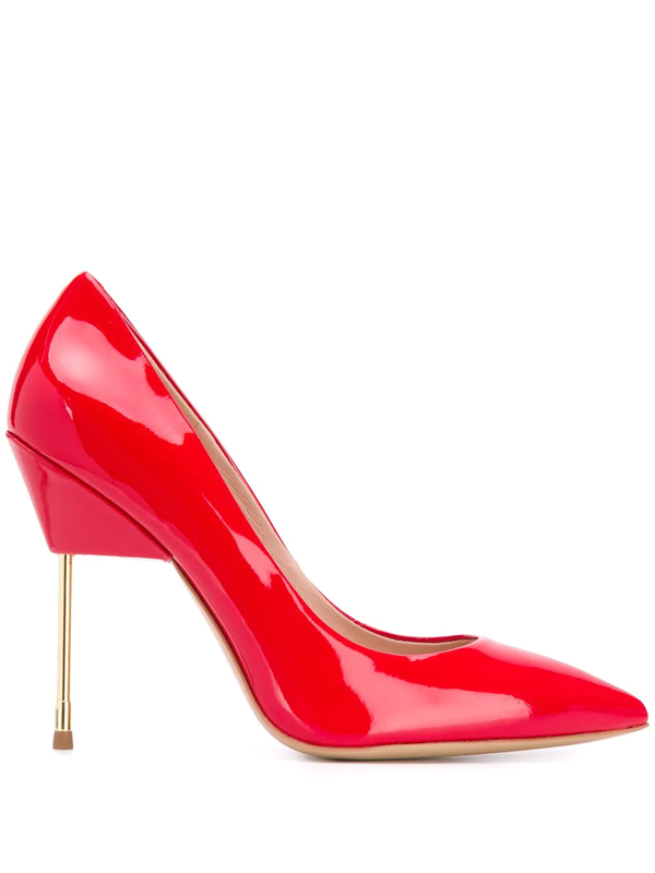 Kurt Geiger Britton Patent-leather Courts In Red