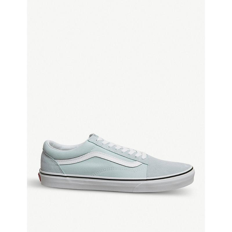 fba4e04a59 Vans Old Skool Canvas Trainer In Baby Blue True White