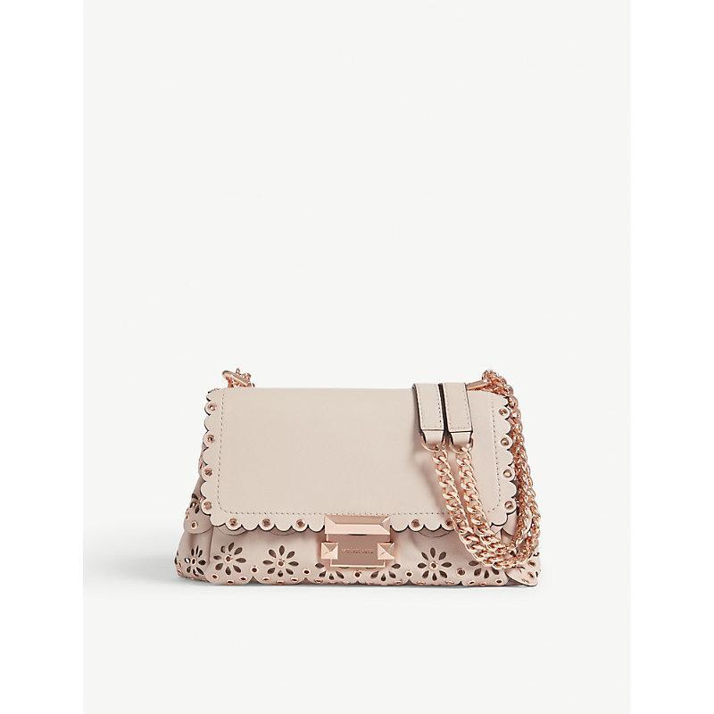 48ba4343d15a Michael Michael Kors Michael Kors Ladies Soft Pink Floral Modern Sloan Scalloped  Leather Shoulder Bag