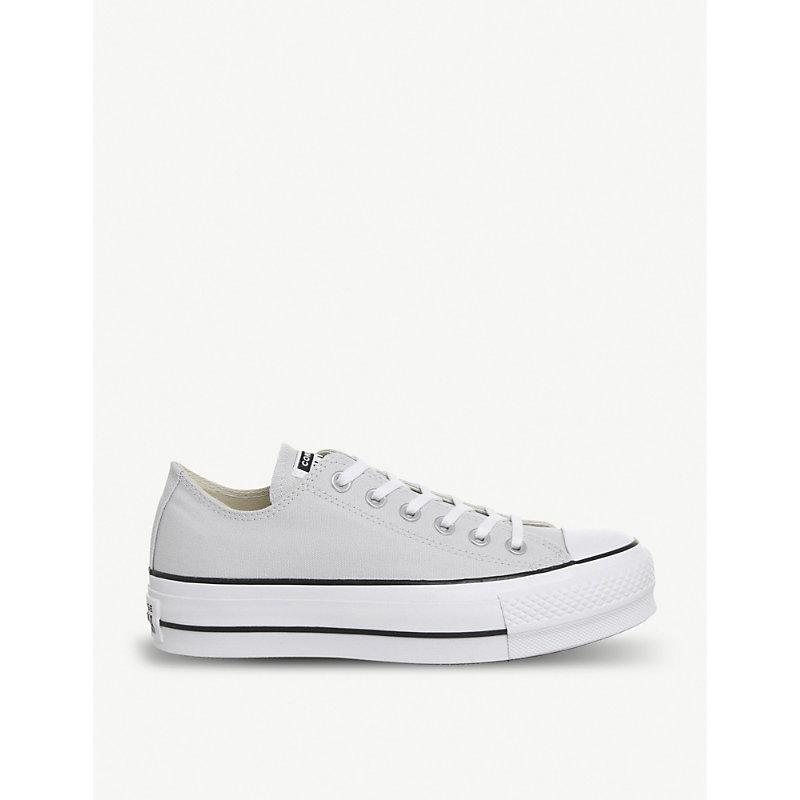 ac697c06682f Converse Chuck Taylor All Star Lift Canvas Platform Trainers In Mouse White  Black