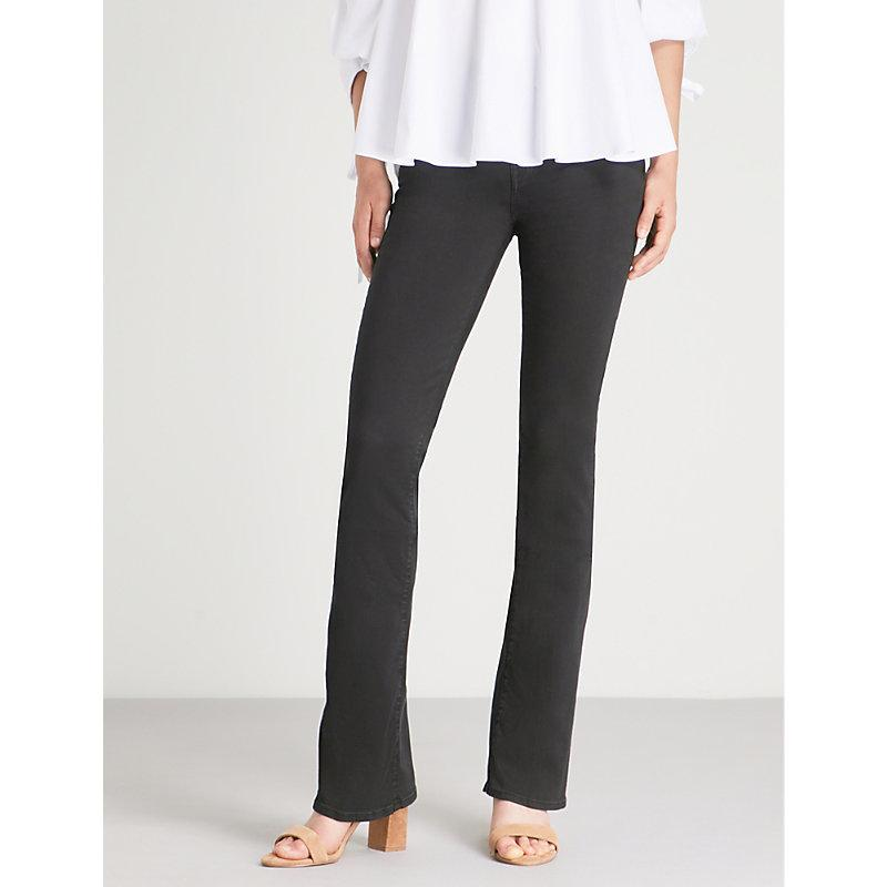 7 For All Mankind Bootcut Mid-Rise Jeans In Bair Black