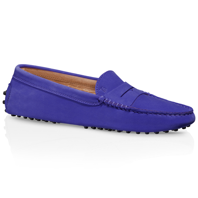 Tod's Gommino Driving Shoes In Nubuck In Blue