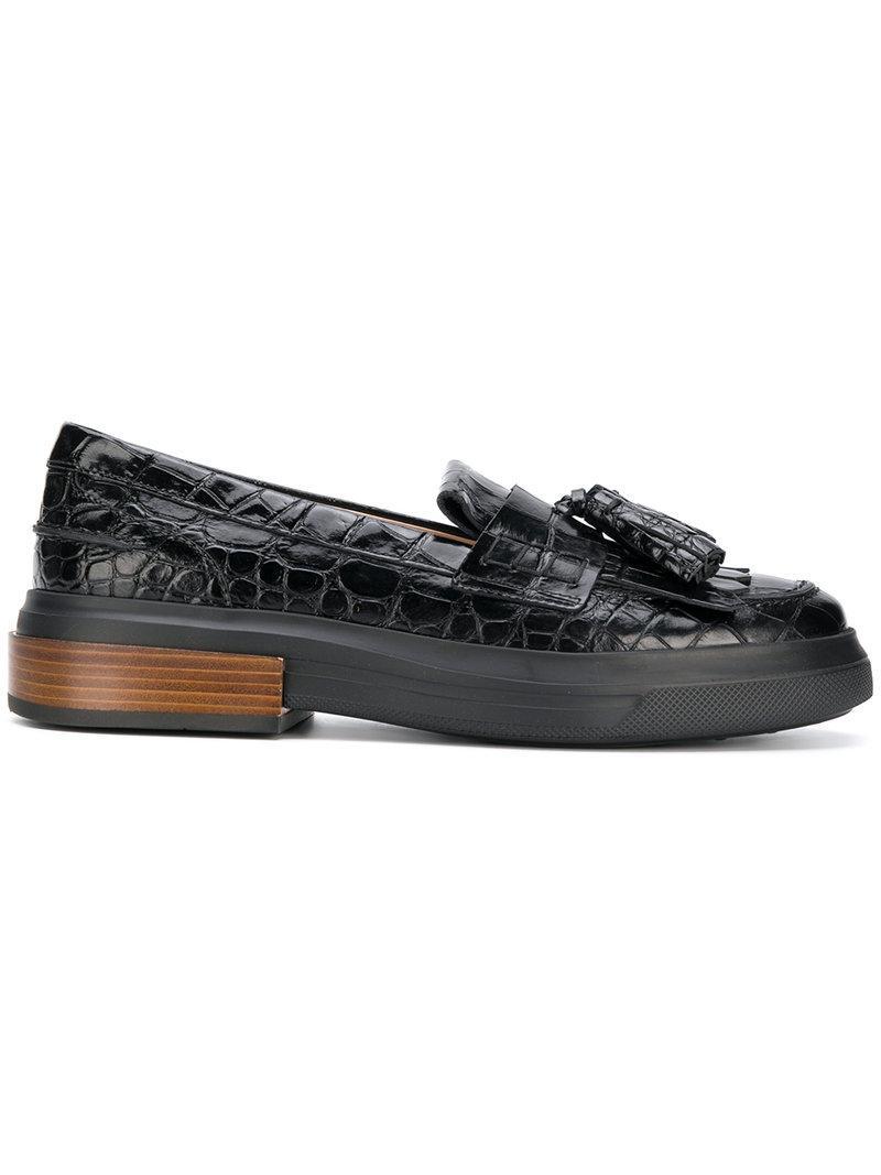 c9ef8c60208 Tod s Tassel Flatform Loafers In Black