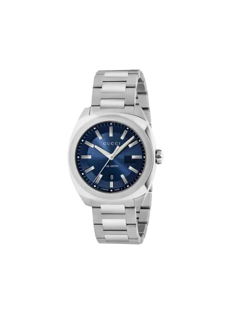 Gucci Ya142205 Gg2570 Stainless Steel Watch In Silver