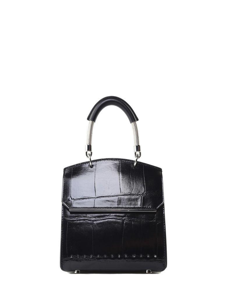 Alexander Wang Mini Dime Croc-Embossed Leather Cross-Body Bag In Nero
