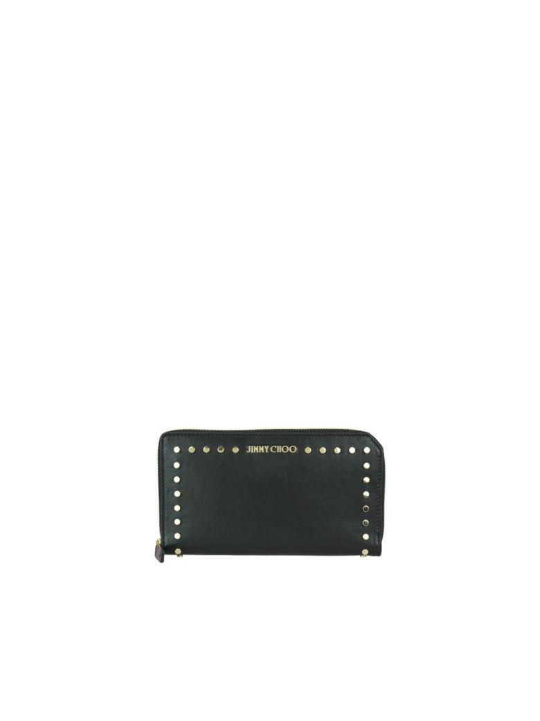 Jimmy Choo Carnaby Wallet In Black/gold