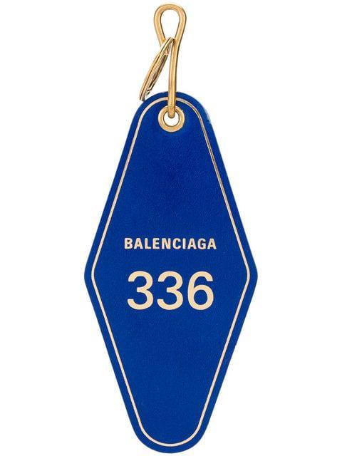 Balenciaga Hotel Tag Keychain - Blue