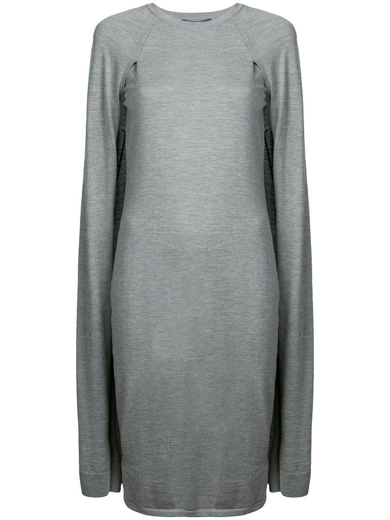 Ralph Collection Cape Lauren Dress Jersey Grey HE2ID9YW