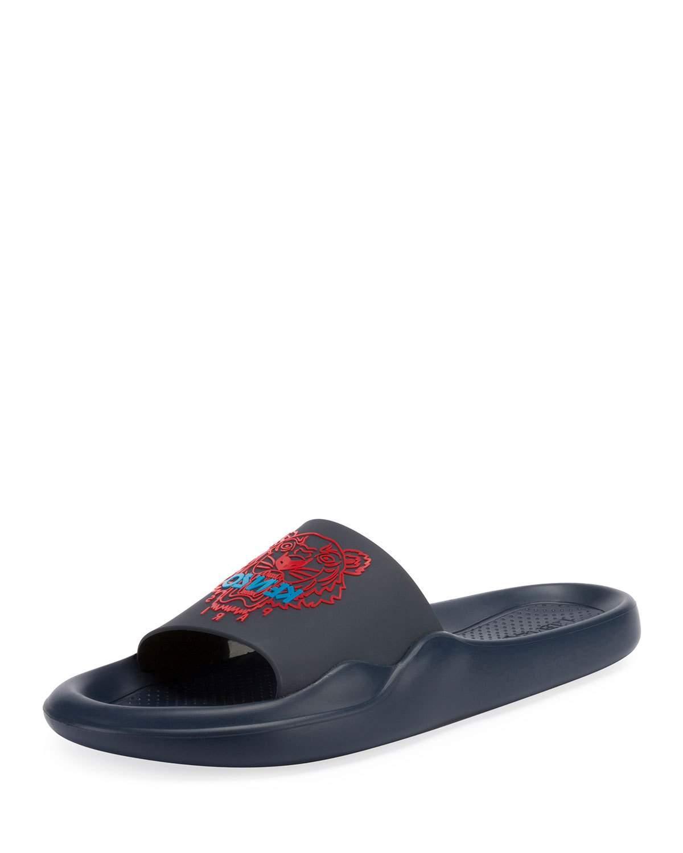 73f14d5ac Kenzo Men's Logo Eva Pool Slide Sandals In Blue | ModeSens