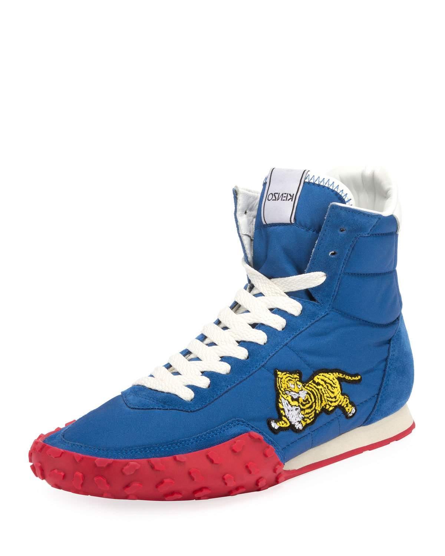 6c3e223e Kenzo Men's Move High-Top Sneakers In Blue | ModeSens