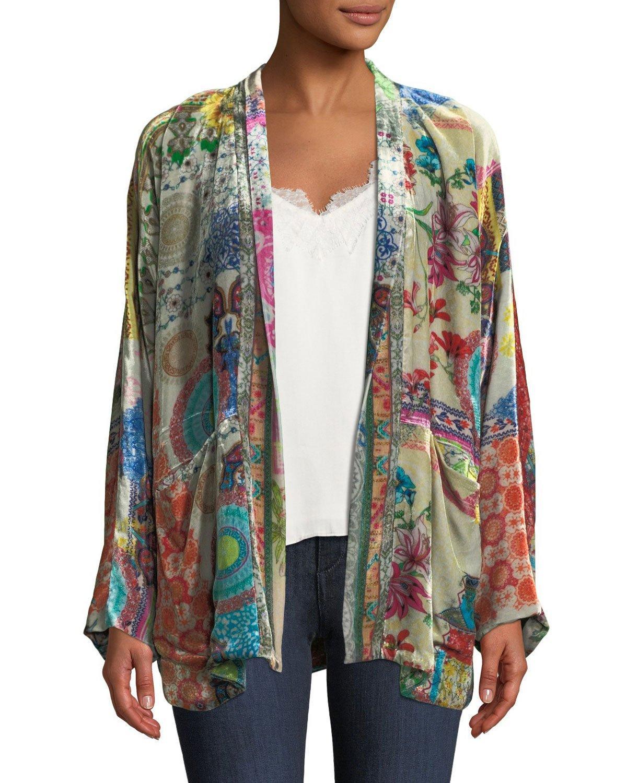 c0201b1a42a13 Johnny Was Gg Velvet Kimono Jacket