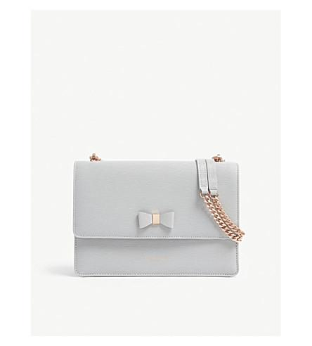 cd037bb79ceb Ted Baker Delila Bow Detail Leather Cross-Body Bag In Grey | ModeSens