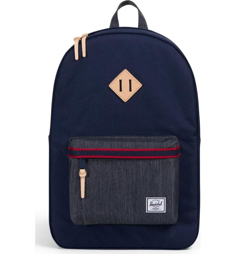 b0a77ded830 Herschel Supply Co. Heritage Offset Denim Backpack - Blue In Pea Coat  Dark  Denim
