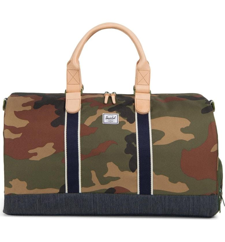 4c6c15cb2908 Style Name  Herschel Supply Co. Novel Offset Denim Duffel Bag. Style  Number  5561210. Available in stores.