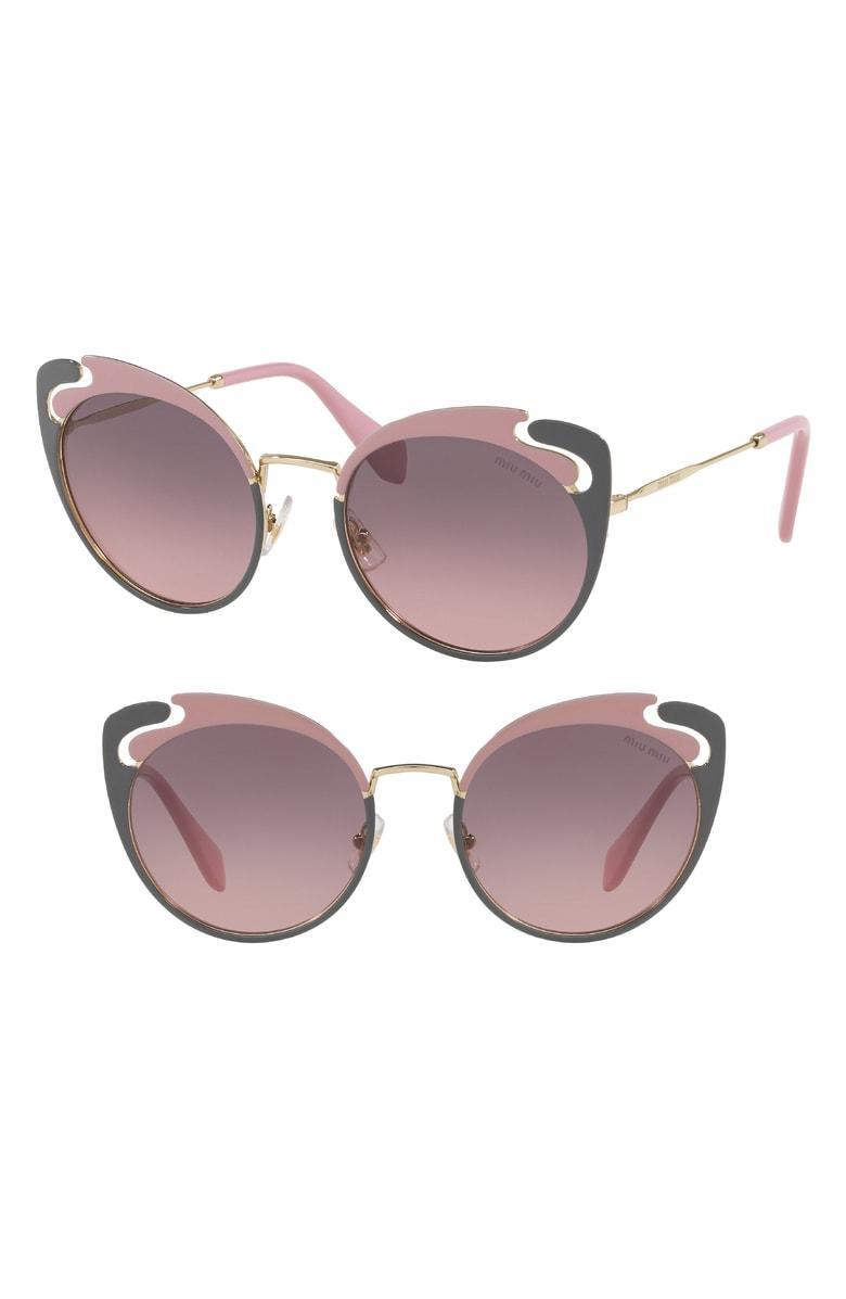 29f7b4fe4dda Miu Miu Noir Evolution 54Mm Cat Eye Sunglasses - Gold  Pink Gradient ...