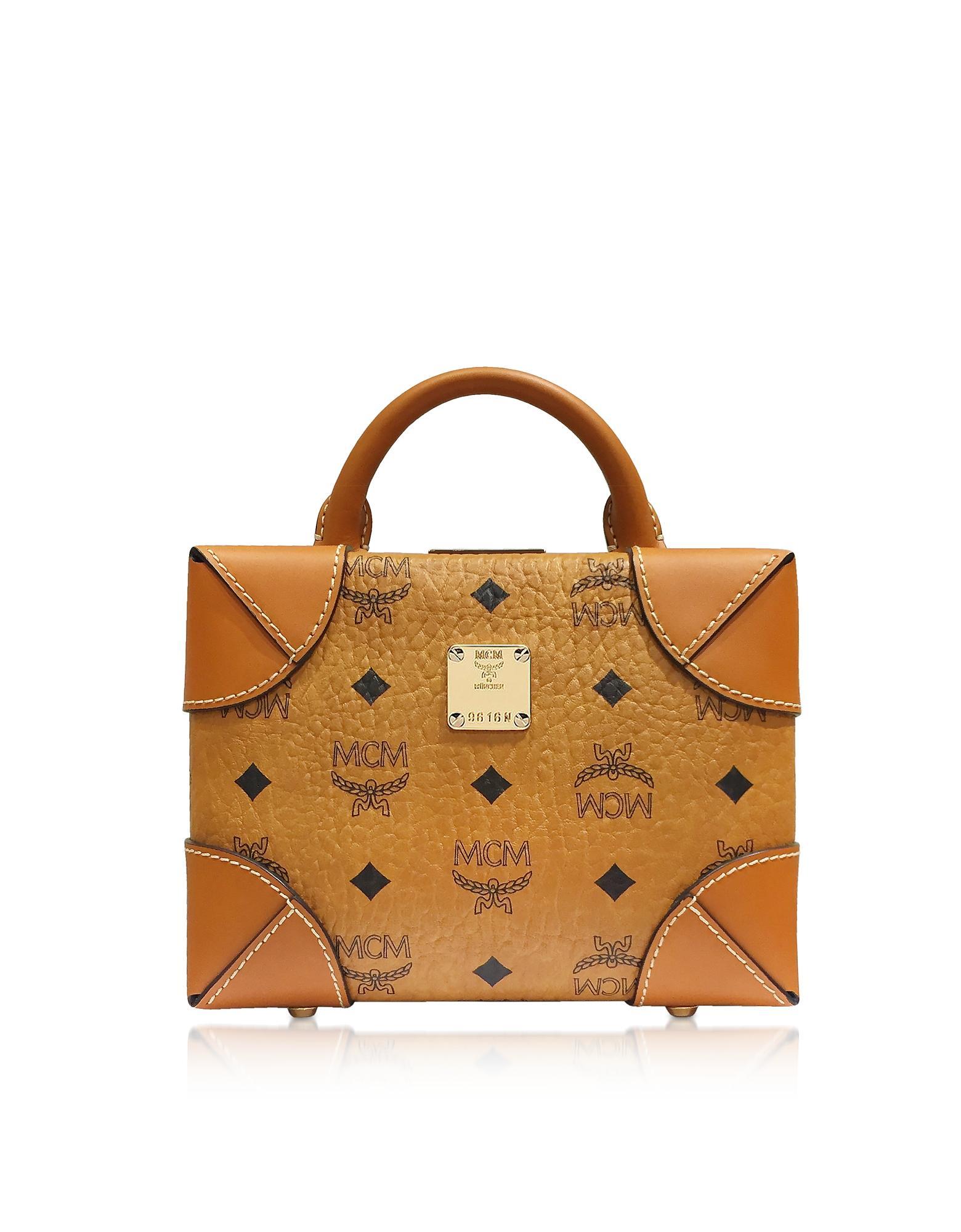 Cognac Soft Berlin Visetos Small Crossbody Bag