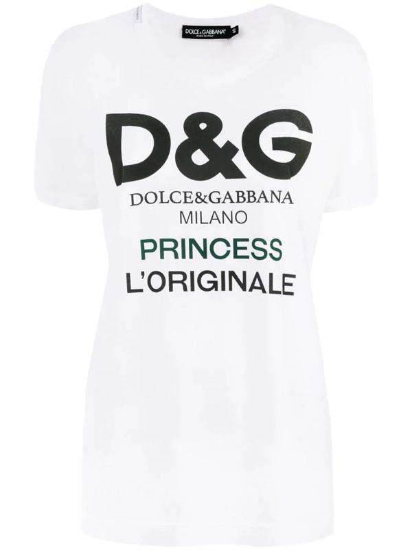 Dolce & Gabbana Logo T-shirt In White