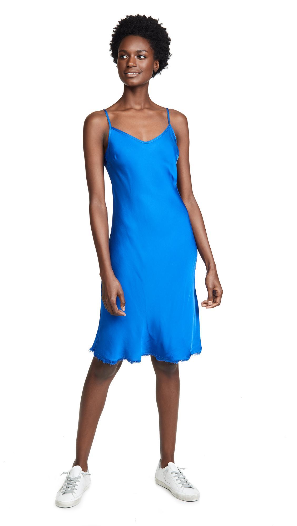 505a34ccdaa7 Nation Ltd Sofia Bias Cut Slip Dress In Mediterranean | ModeSens