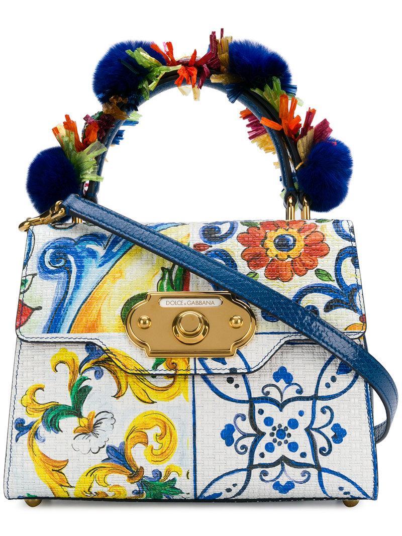 b6d62b4281 Dolce & Gabbana Majolica-Print Welcome Bag - White | ModeSens