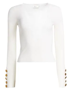 A.L.C Dunham Wool Sweater In White
