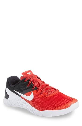720d793bfc4 Nike Metcon 4 Rubber-Trimmed Mesh Sneakers In Red