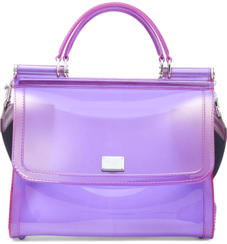 f5863164fe Dolce   Gabbana Medium Sicily Pvc Satchel - Purple In Viola Multi ...