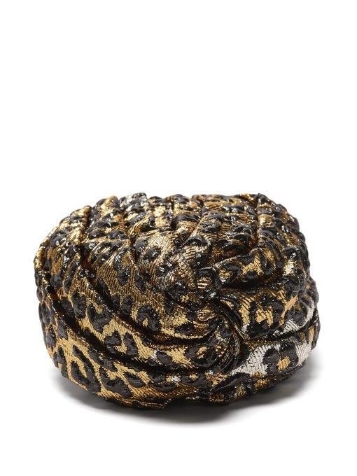 b20b8ef18bd Gucci - Leopard Print Turban Headband - Womens - Gold