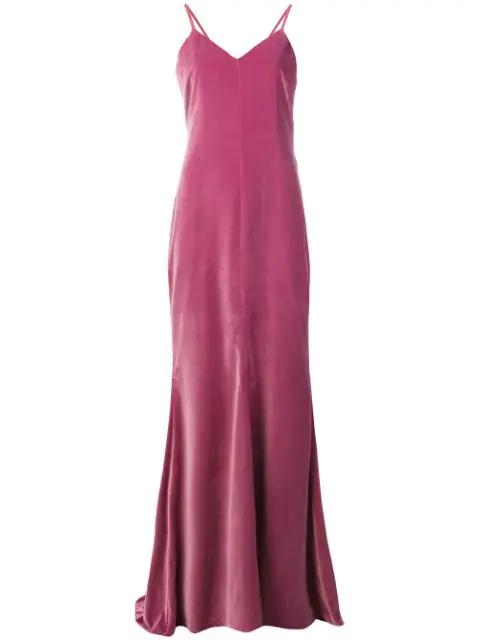 Max Mara Long Sleeveless Dress In Pink