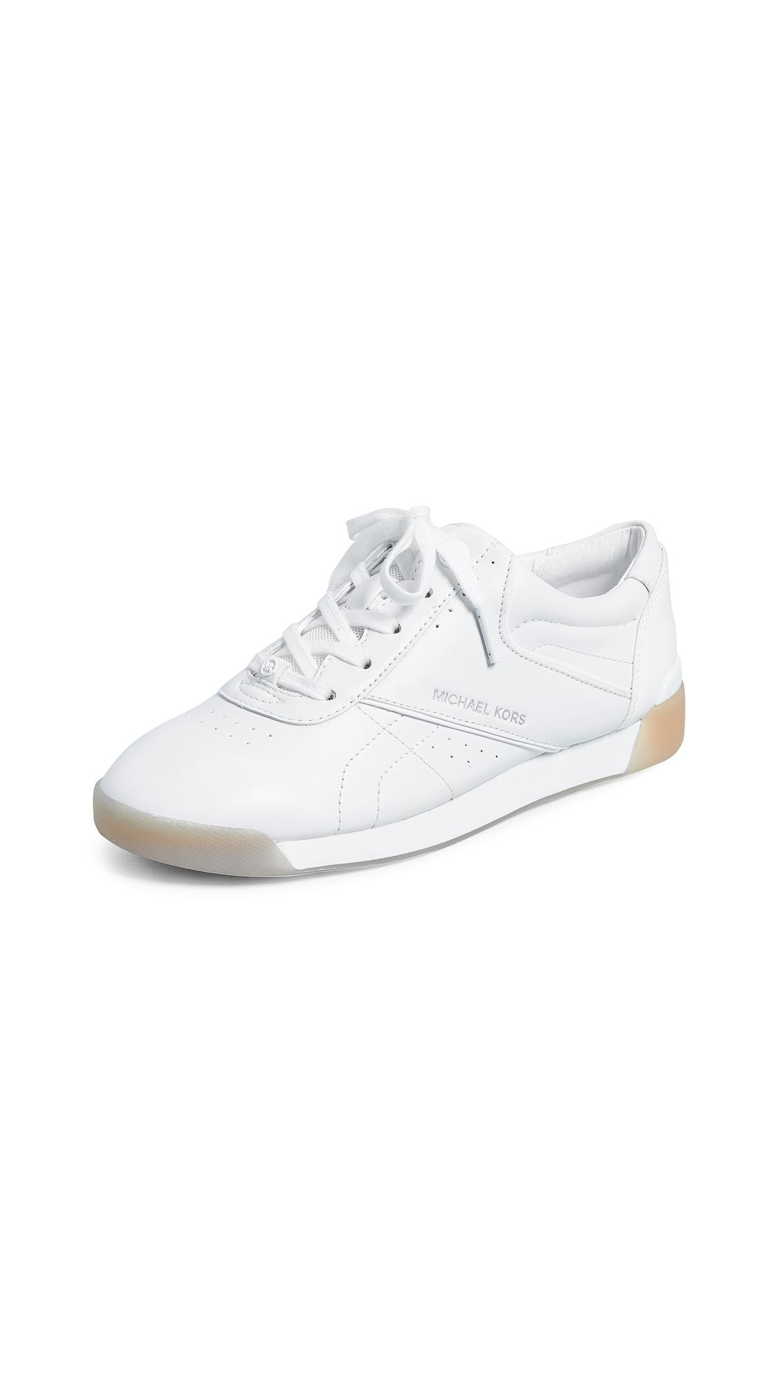 bb400bbdc4 Michael Michael Kors Addie Lace Up Sneakers In Optic White | ModeSens
