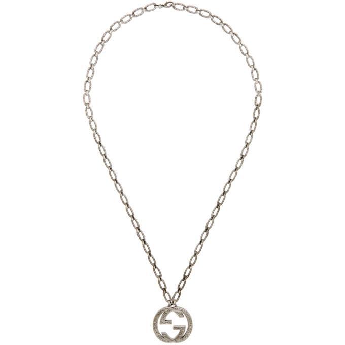 Gucci Silver Interlocking Gg Necklace In 0811 Silver