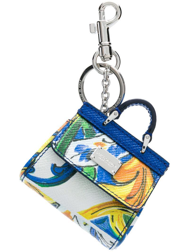 b473b5b898 Dolce   Gabbana Mini Sicily Bag Keychain - Blue