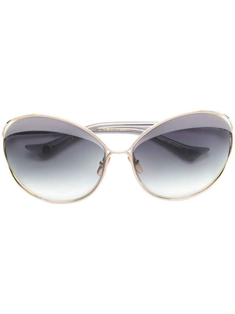 4c572eef81 Gold-tone oversized frame sunglasses from Dita Eyewear featuring gradient  lenses