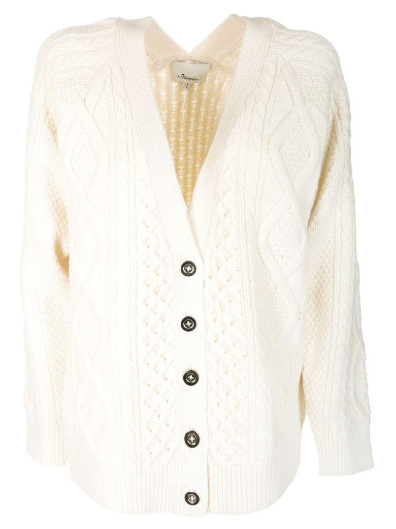 a9704da70dcdec 3.1 Phillip Lim Aran Cable-Knit Wool Cardigan In White   ModeSens