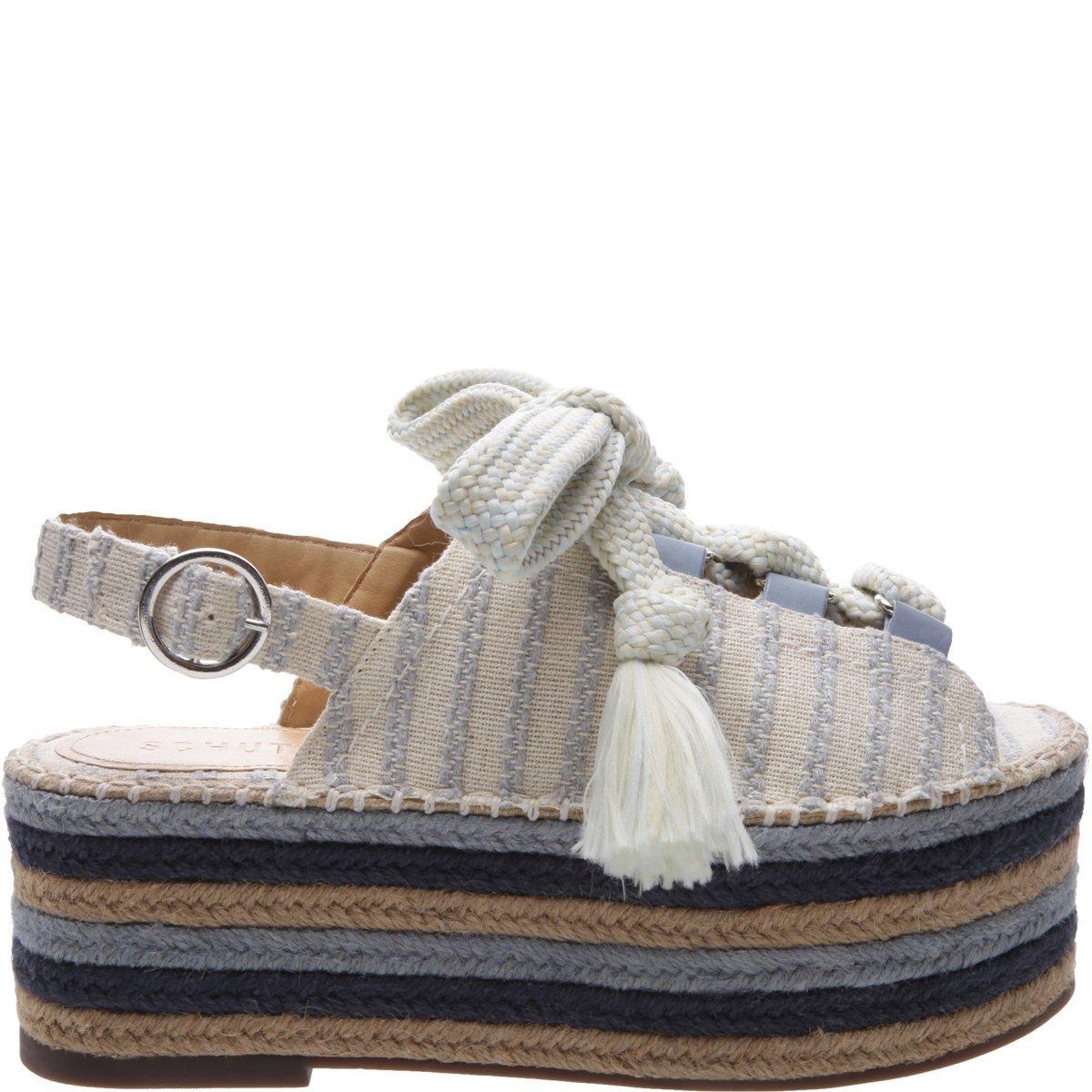 63571613278d Schutz Isabelyta Wedge Sandal In Jeans Multi