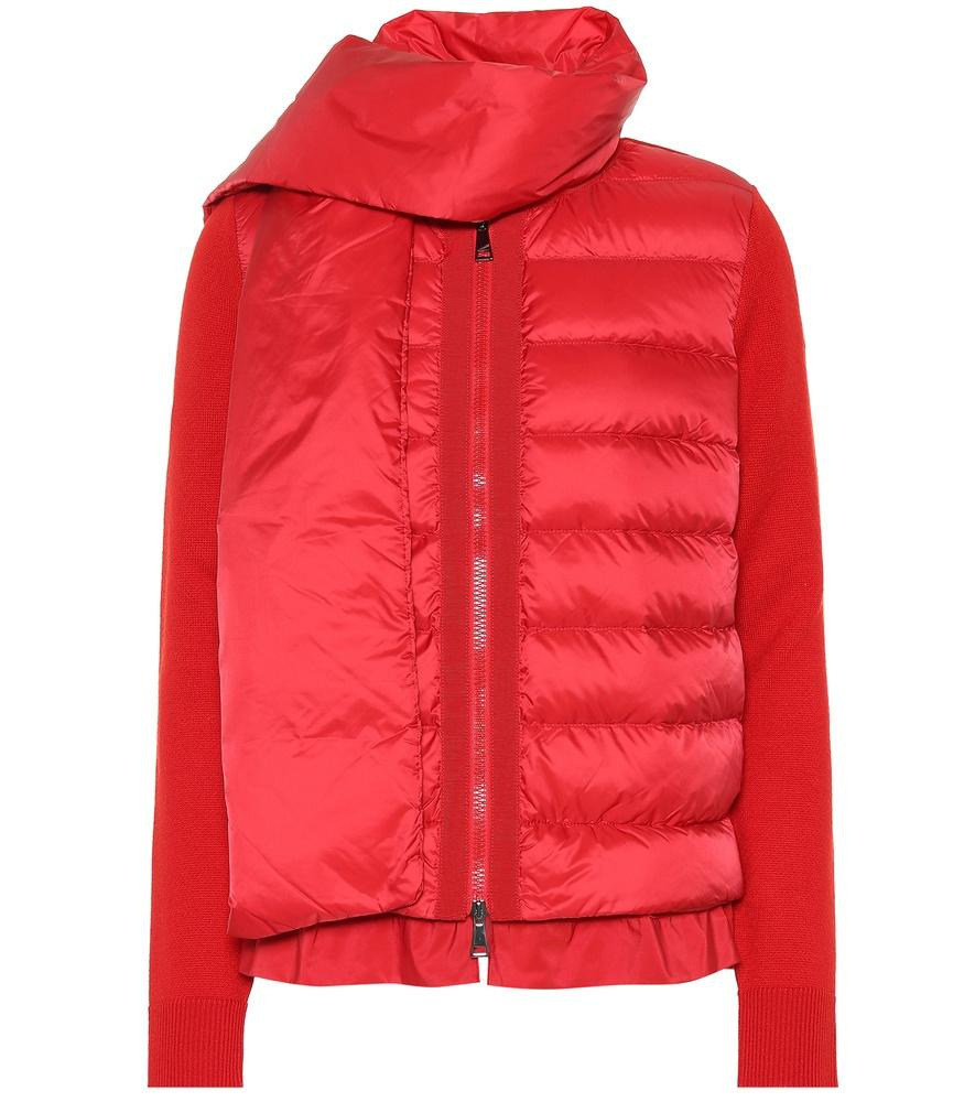 Moncler Down Puffer Jacket In Red